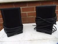 Mission Speakers with good quality cable and speaker stands
