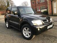 MITSUBISHI SHOGUN WARRIOR DI-D AUTOMATIC 3DR SWB 2004+TOP SPEC+HEATED LEATHER+HPI CLEAR PX