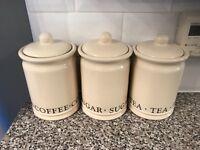 Tea, Sugar & Coffee Jars