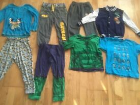 5-6 years boys clothes bundle minecraft super hero's