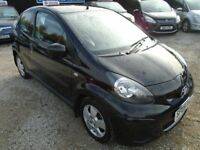 toyota aygo, 1.0, petrol, black, 3 door, group 1 insurnance.