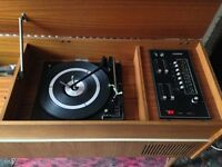 Retro Stereo HiFi units with turntables, 2 different styles
