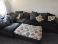 Sofa large in dark brown suede in excellent condition