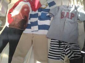 Zara boys trousers + Gap T-Shirt + H&M shorts Boys bundle age 6-7 will POST