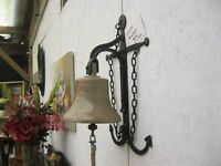 VINTAGE ORNATE LARGE COLLECTABLE 'ANCHOR' DESIGN BELL. VIEWING/DELIVERY AVAILABLE