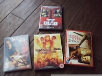 dvd horror bundle , boxed set the hills have eyes -box set resident evil trilogy -sharn of the dead