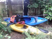 2 x canoes for sale excellent condition with accessories