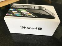 Apple IPhone 4S 8GB (Unlocked, black with charger, plug and Cable)
