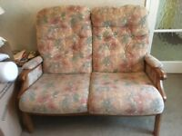 HSL sofa, armchair and footstool excellent condition £65