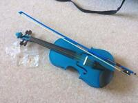 Stentor metallic blue violin size 3/4