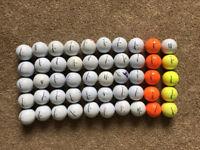 50 Mixed Dunlop Golf Balls