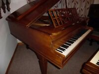 baby grand piano by j brinsmead --summer sale price--