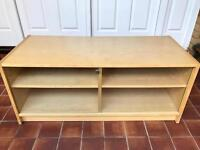 Beech Effect Wooden TV Television Unit Cabinet