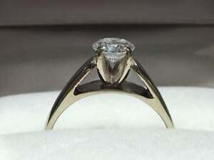 #1445 14K LADIES SOLITAIRE ENGAGEMENT RING .56CT *SIZE 5* JUST BACK FROM APPRAISAL AT $4150.00 SELLING FOR ONLY $1095.00