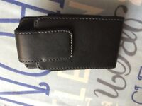 Black leather Case for IPhone 4s, 4 and 4G Belt clip holder/pouch/cover
