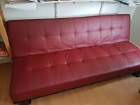 New Red faux leather sofa