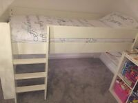 Kids High Sleeper single bed - in a white painted finish