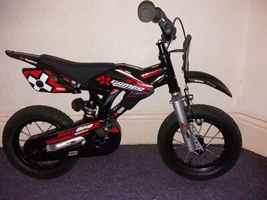 Bike Bmx Kids Espn X Games Motobike Mxb In Black And Red Good