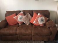 Harvey's 3 piece suite , sofa has 2 recliners chairs rockers and recliners