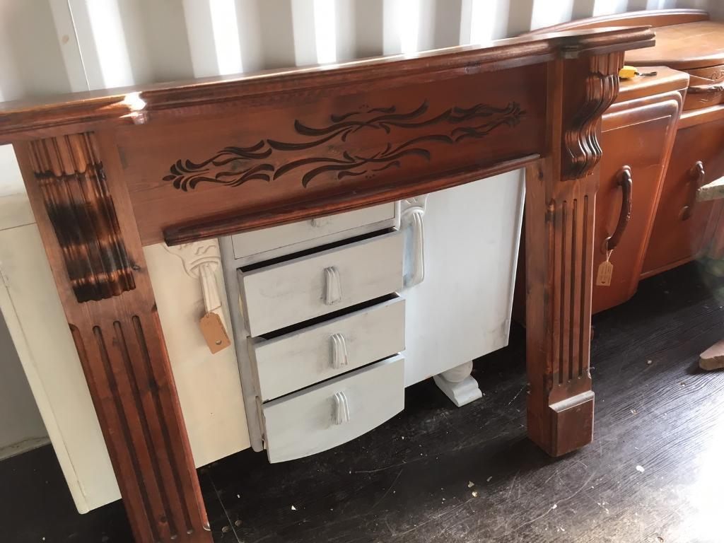 LOVELY WOOD FIRE SURROUND SHABBY CHIC PROJECT