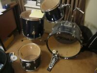 DRUMS PEAVEY COMPLETE QUALITY DRUM SET. *BARGAIN AS MOVING*+ EXTRAS COLLECTION FROM NR WISBECH PE13.