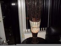 WICKER AND RATTEN FLOOR OR TABLE LAMP