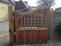 Electric hardwood gates