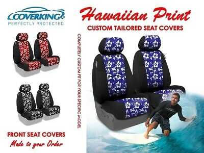 Coverking Hawaiian Print Custom Tailored Front Seat Covers for Jeep Wrangler Seat Covers Hawaiian Cover