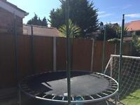 8ft trampoline with steel bars