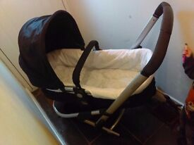 Mothercare travel system pram, buggy and car seat combo plus extras 3 wheeler good condition.