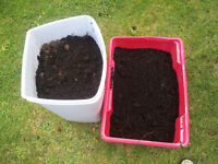 2 tubs of compost free to collect