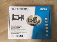 Invasion-TV Wall Mount Bracket-20 Inch Cantilever Arm/1.8-Inch Wall Profile Tilt & Swivel(HDTV-M)