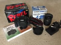 Canon DSLR kit with upgraded lens and FREE camera bag