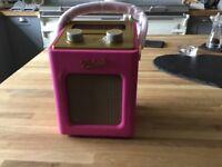 Roberts radio Revival mini hot pink DAB radio - brand new