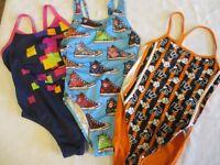 """3 girls swimming costumes 30-32"""" chest"""