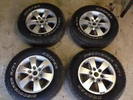 **Mitsubishi Alloy Wheels and New Tyres**