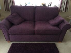 Medium Sofa and Chair damson colour FREE to COLLECT