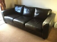 4 piece brown Italian soft leather suite. In excellent condition. Very comfortable.