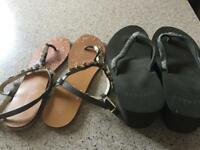 Size 6 ladies Sandals excellent condition from Fat-face and Next
