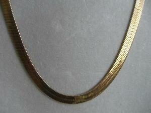 "GORGEOUS OLD VINTAGE CLOSED-LINK GOLDTONE 24"" CHAIN NECKLACE"