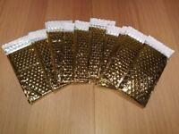 Metallic Gold Sparkle Padded Envelopes / Mailer - 10 pieces