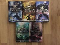 Set of Five Percy Jackson Books by Rick Riordan