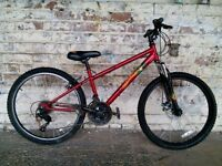 Teenagers Boys mountain bike with suspension forks and disc brakes very clean great for XMAS