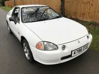 Honda Civic CRX ESI 1595cc Petrol Automatic 2 door Coupe K Reg 12/01/1993 White