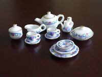 China tea set for a doll's house