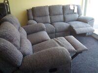 Brandnew grey 3&2 lazy boy recliner sofa