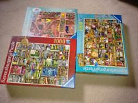 3 X RAVENSBURGER JIGSAWS