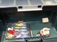BOX OF ASSORTED FISHING TACKLE
