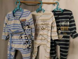 Baby grows x3 0-3 months