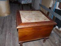 Antique victorian mahogany wood bedroom toilet